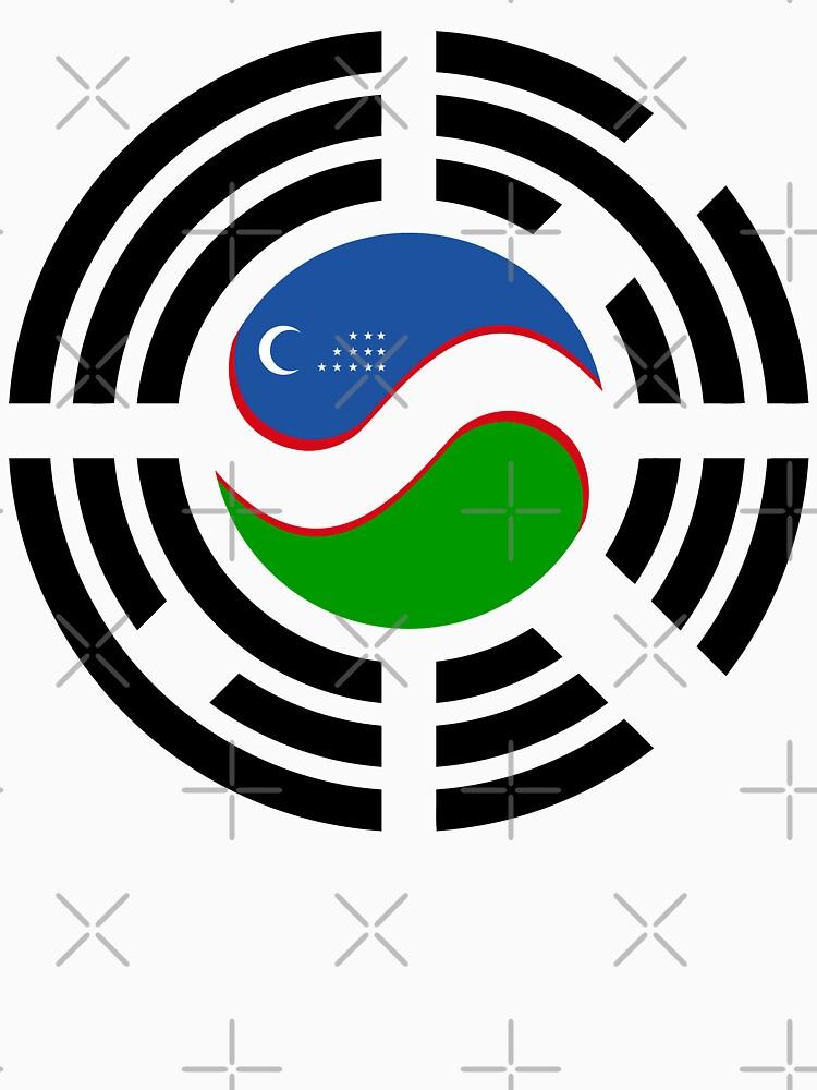 Korean Uzbeki Multinational Patriot Flag Series by carbonfibreme