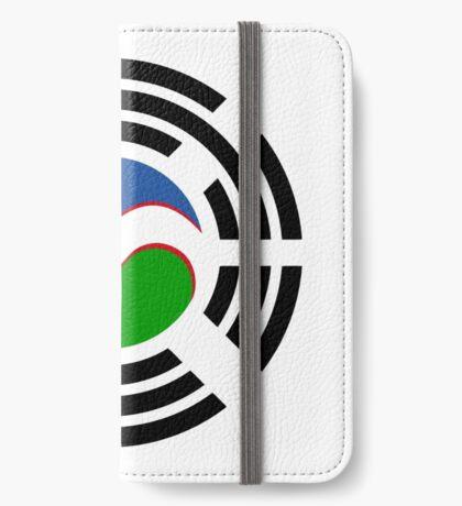 Korean Uzbeki Multinational Patriot Flag Series iPhone Wallet