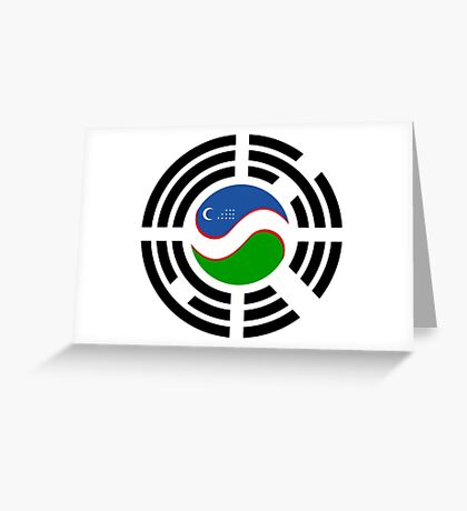 Korean Uzbeki Multinational Patriot Flag Series Greeting Card
