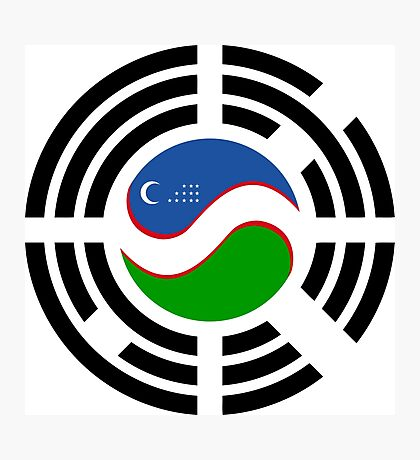 Korean Uzbeki Multinational Patriot Flag Series Photographic Print
