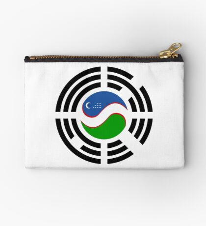 Korean Uzbeki Multinational Patriot Flag Series Zipper Pouch