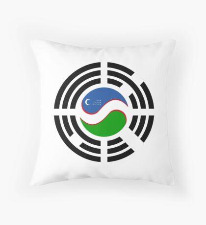 Korean Uzbeki Multinational Patriot Flag Series Throw Pillow