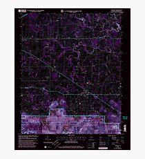 USGS TOPO Map Alabama AL Oakville 304713 2000 24000 Inverted Photographic Print