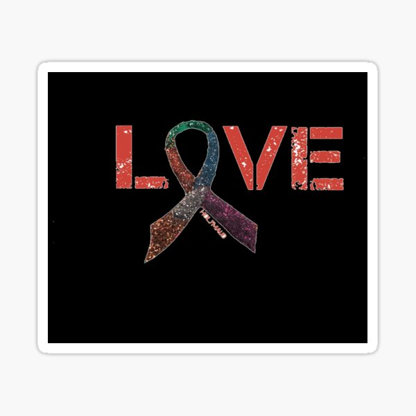 Cancer Patients Cancer Survivors Support Breast Cancer Ribbons  Sticker