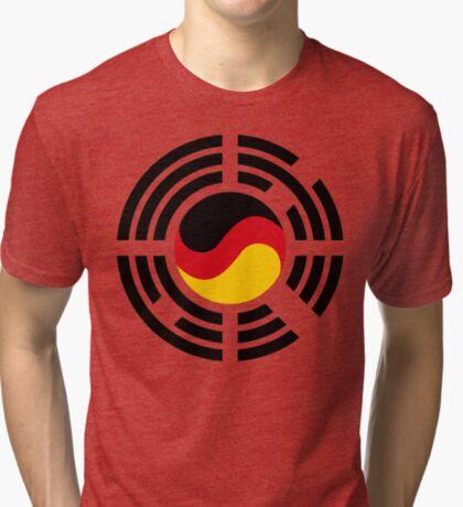 Korean German Multinational Patriot Flag Series Tri-blend T-Shirt