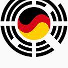 Korean German Multinational Patriot Flag Series by Carbon-Fibre Media