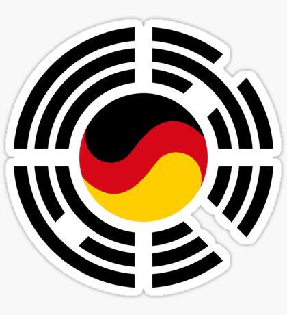 Korean German Multinational Patriot Flag Series Glossy Sticker