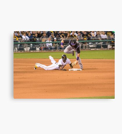 Safe at Second Canvas Print