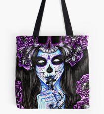 Dai de los Muertos, Purple Tote Bag