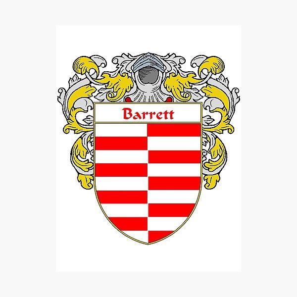Barrett Coat of Arms/ Barrett Family Crest Photographic Print