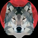 Red Moon+Wolf by CurtisC