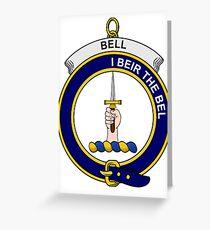 Bell Clan Badge Greeting Card