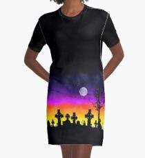 Sunset Over Necropolis Graphic T-Shirt Dress