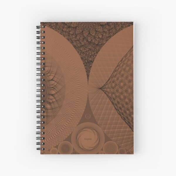 Contemporary Mandalas Track   Slow Down   Earthy Mars Spiral Notebook