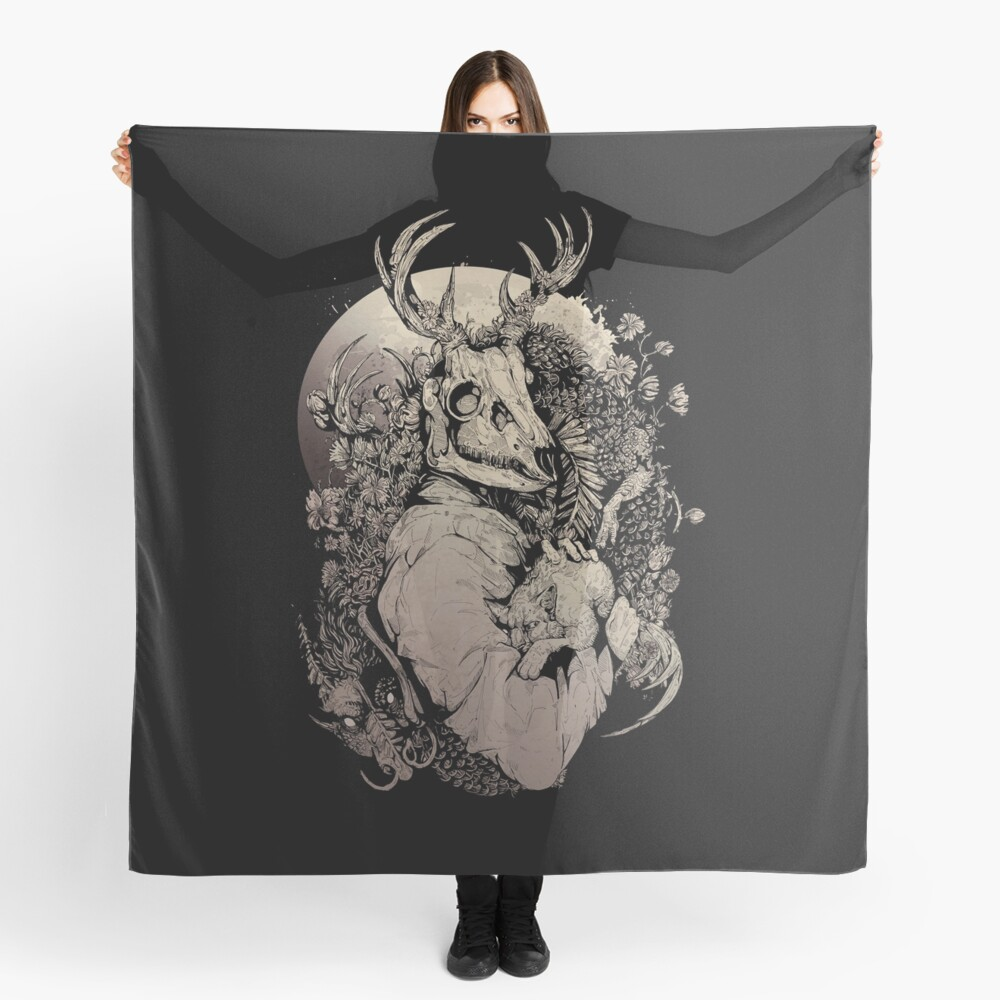 The Dragon's Daughter- Sepia  Scarf