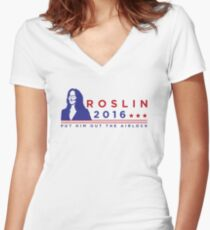 "ROSLIN 2016 - ""PUT HIM OUT THE AIRLOCK!"" Women's Fitted V-Neck T-Shirt"