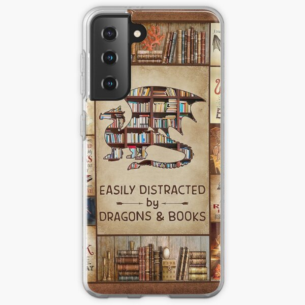 Easily Distracted By Dragons And Books-gigapixel Samsung Galaxy Soft Case