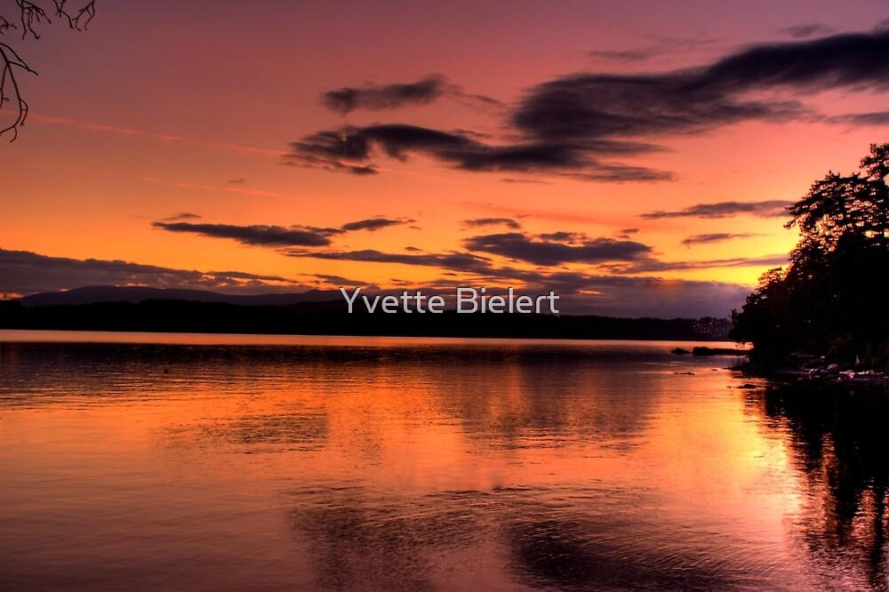 Sunset On The Bay by Yvette Bielert