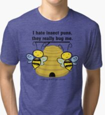 Insect Puns Bug Me Funny Bumble Bees Tri-blend T-Shirt