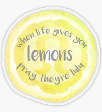 Wenn das Leben dir Lululemon gibt Transparenter Sticker
