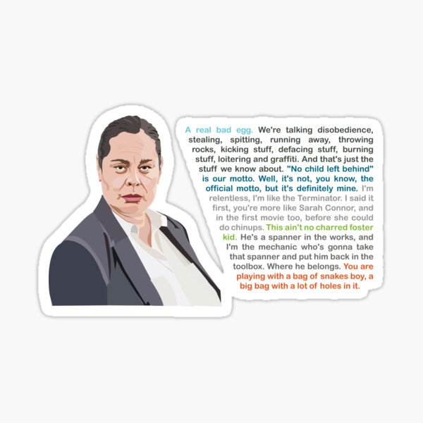 Paul, Hunt for the Wilderpeople QUOTES Sticker