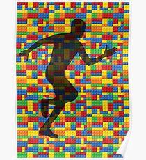 Lego - human body - running man  Poster