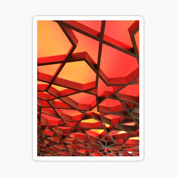 Red, Orange and Yellow abstract Sticker