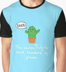 Tsundere Cactus Graphic T-Shirt