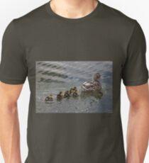 Ducklings Following Mom Duck T-Shirt