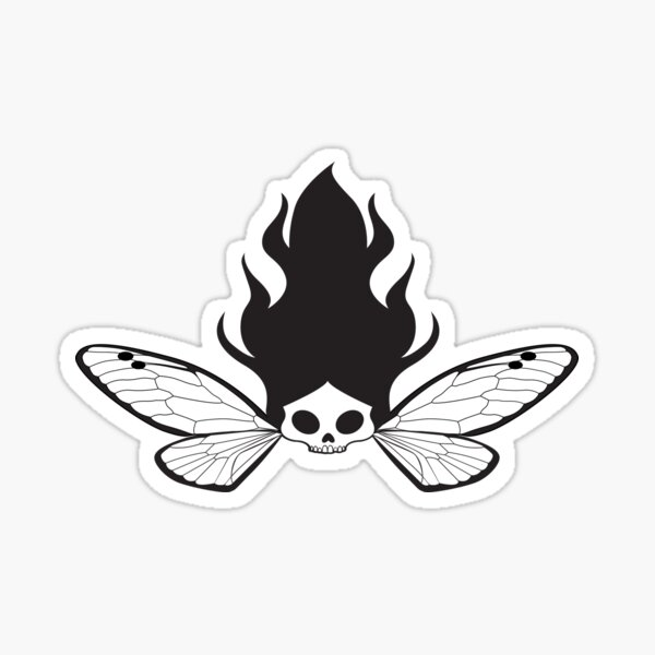 Skull Faery with Wings Sticker