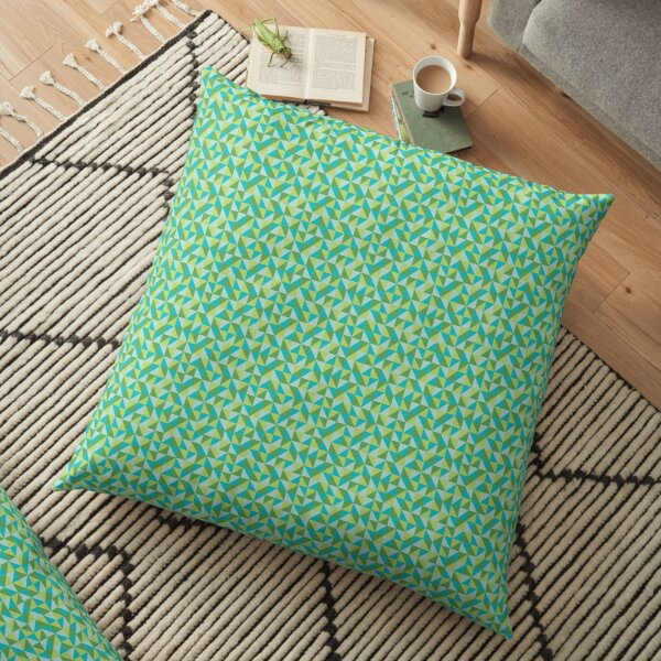 Triangle Green Floor Pillow