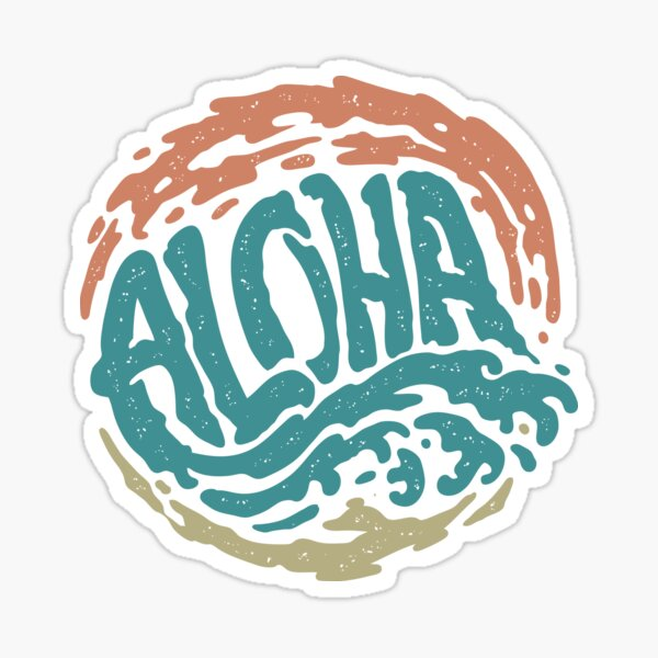 Aloha Hawaii Sticker