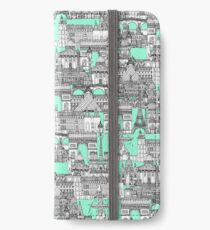 Paris toile aquamarine iPhone Wallet