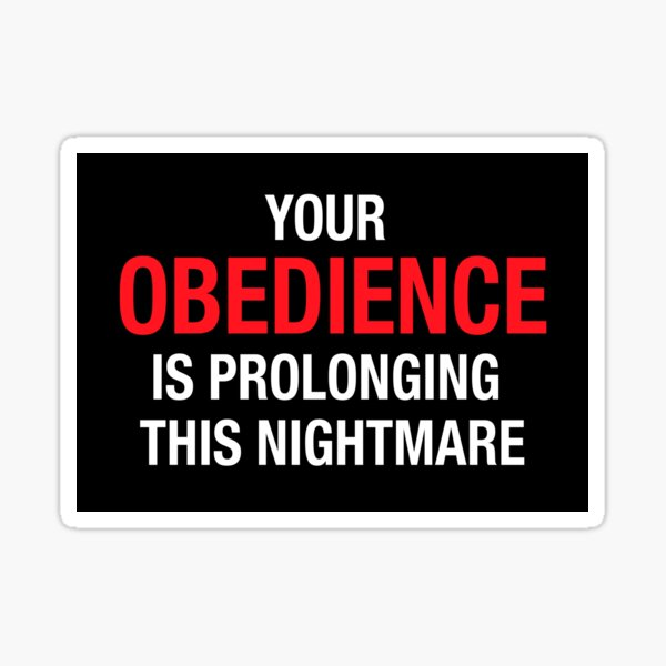 Your Obedience Sticker