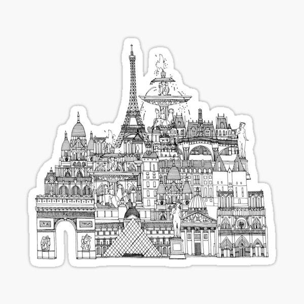 Paris toile gold Sticker