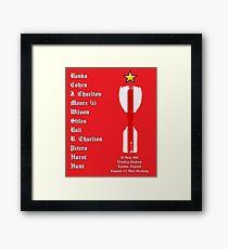 England 1966 World Cup Final Winners, Version 2.0 Framed Print