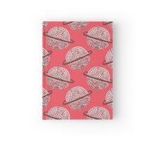 Red Planet Hand Drawn Pattern Hardcover Journal