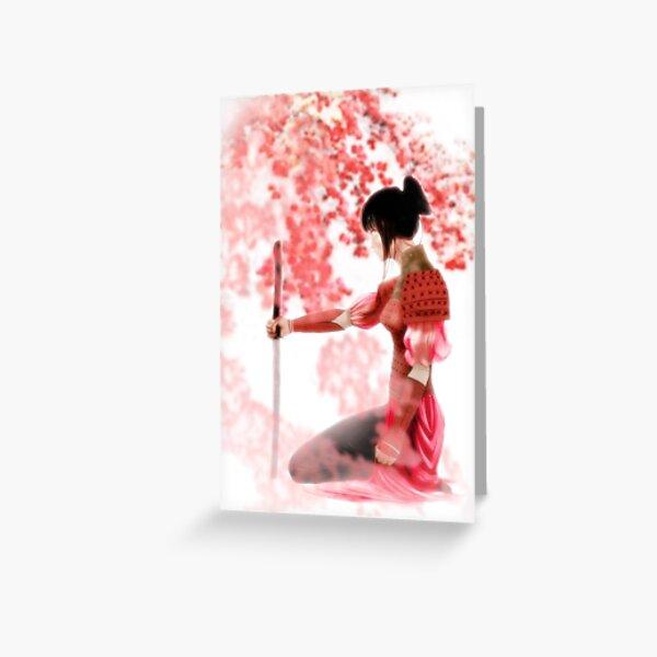 Samurai Girl Greeting Card