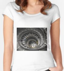 Vatican Museums Spiral Staircase Women's Fitted Scoop T-Shirt