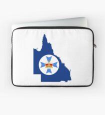 Flag Map of Queensland  Laptop Sleeve