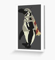 Rocket Penguin Greeting Card