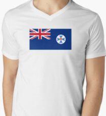Flag of Queensland Men's V-Neck T-Shirt