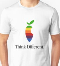 """Apple Parody Zootopia Carrot """"Think Different"""" Logo T-Shirt"""