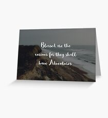 Blessed Adventurers  Greeting Card