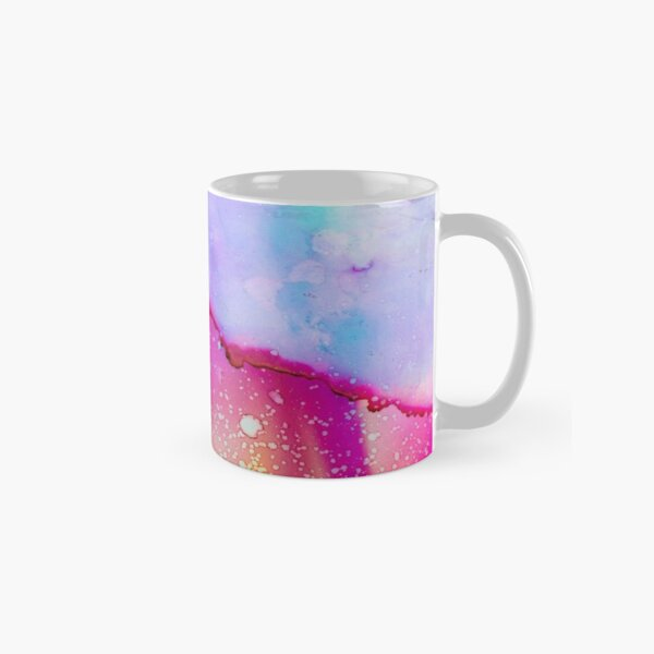 Beautiful Colorful Marble Design   Aqua Rainbow Mermaid Design  Classic Mug