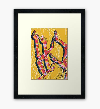 Expressive Arms in Yellow Framed Print