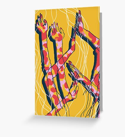 Expressive Arms in Yellow Greeting Card