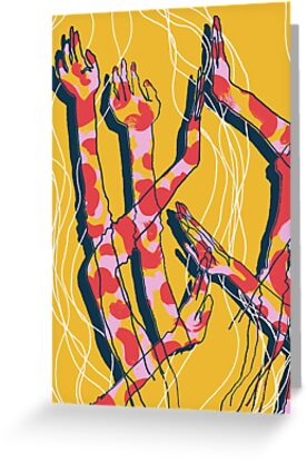 Expressive Arms in Yellow by Jodie Nicholson