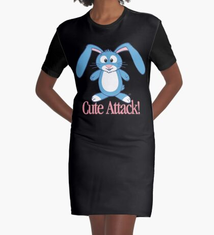 Cute Attack! Graphic T-Shirt Dress