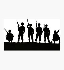 Army silhouette  Photographic Print